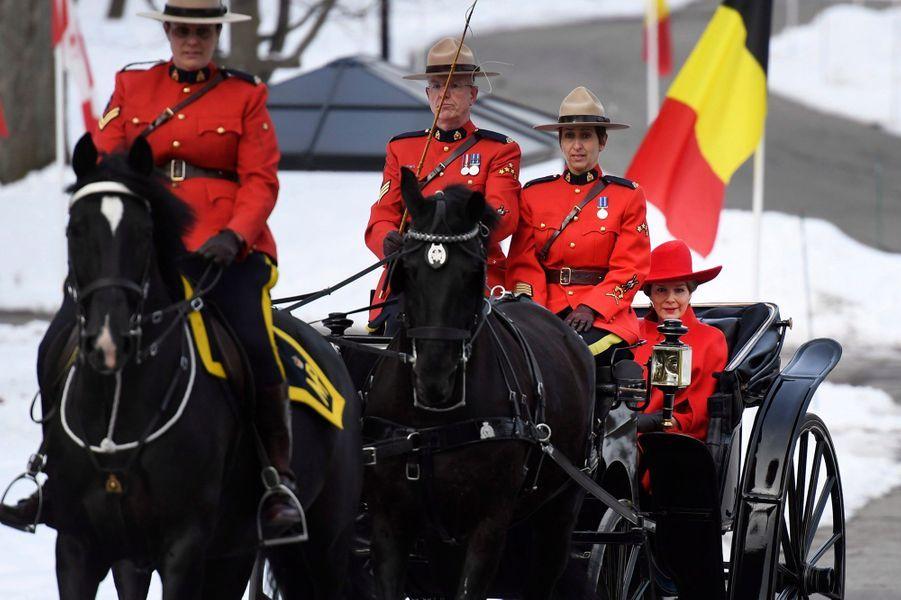 La reine Mathilde et le roi des Belges Philippe à Ottawa au Canada, le 12 mars 2018