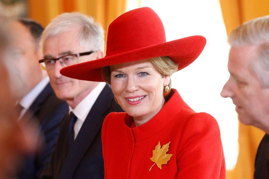 La reine Mathilde et le roi des Belges Philippe à Ottawa, le 12 mars 2018