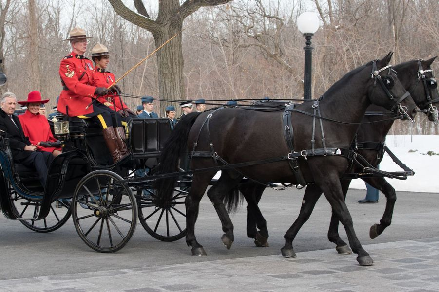 La reine Mathilde et le roi des Belges Philippe débutent leur visite canadienne à Ottawa, le 12 mars 2018