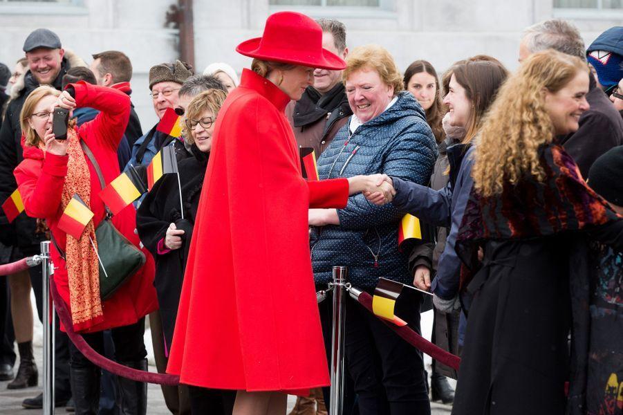 La reine Mathilde de Belgique à Ottawa, le 12 mars 2018