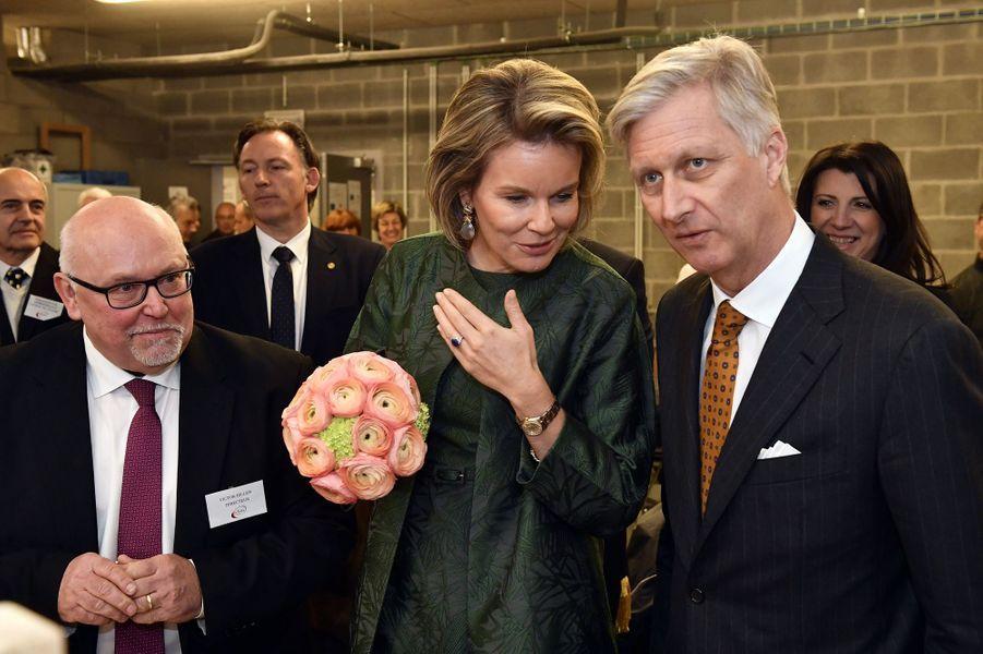 La reine Mathilde et le roi Philippe de Belgique à Verviers, le 15 février 2017