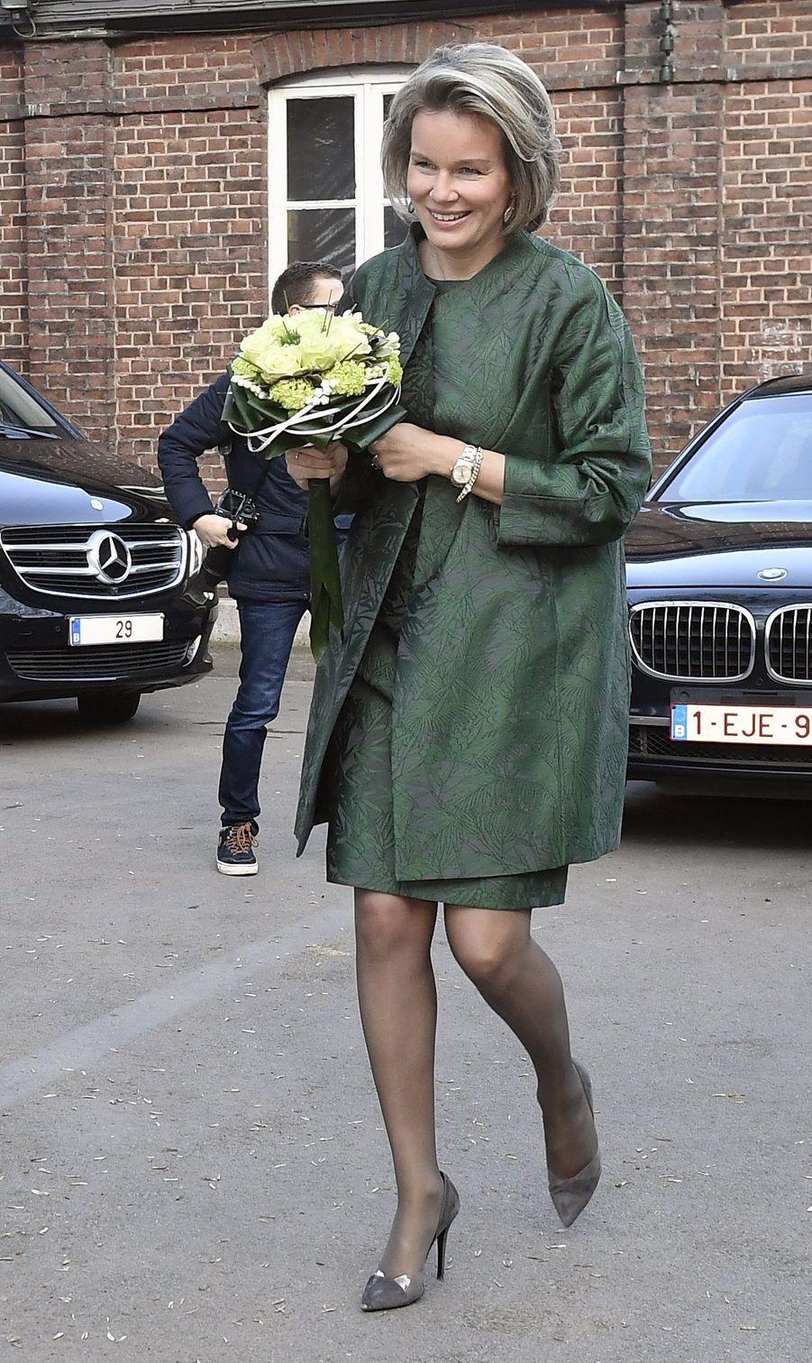 La reine Mathilde de Belgique à Verviers, le 15 février 2017