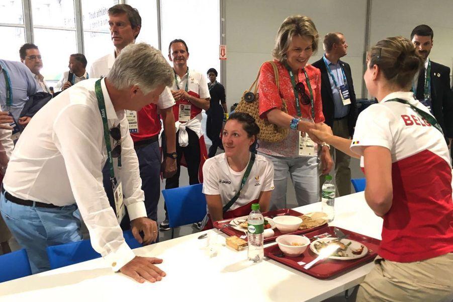 La reine Mathilde et le roi Philippe de Belgique aux JO de Rio, le 6 août 2016