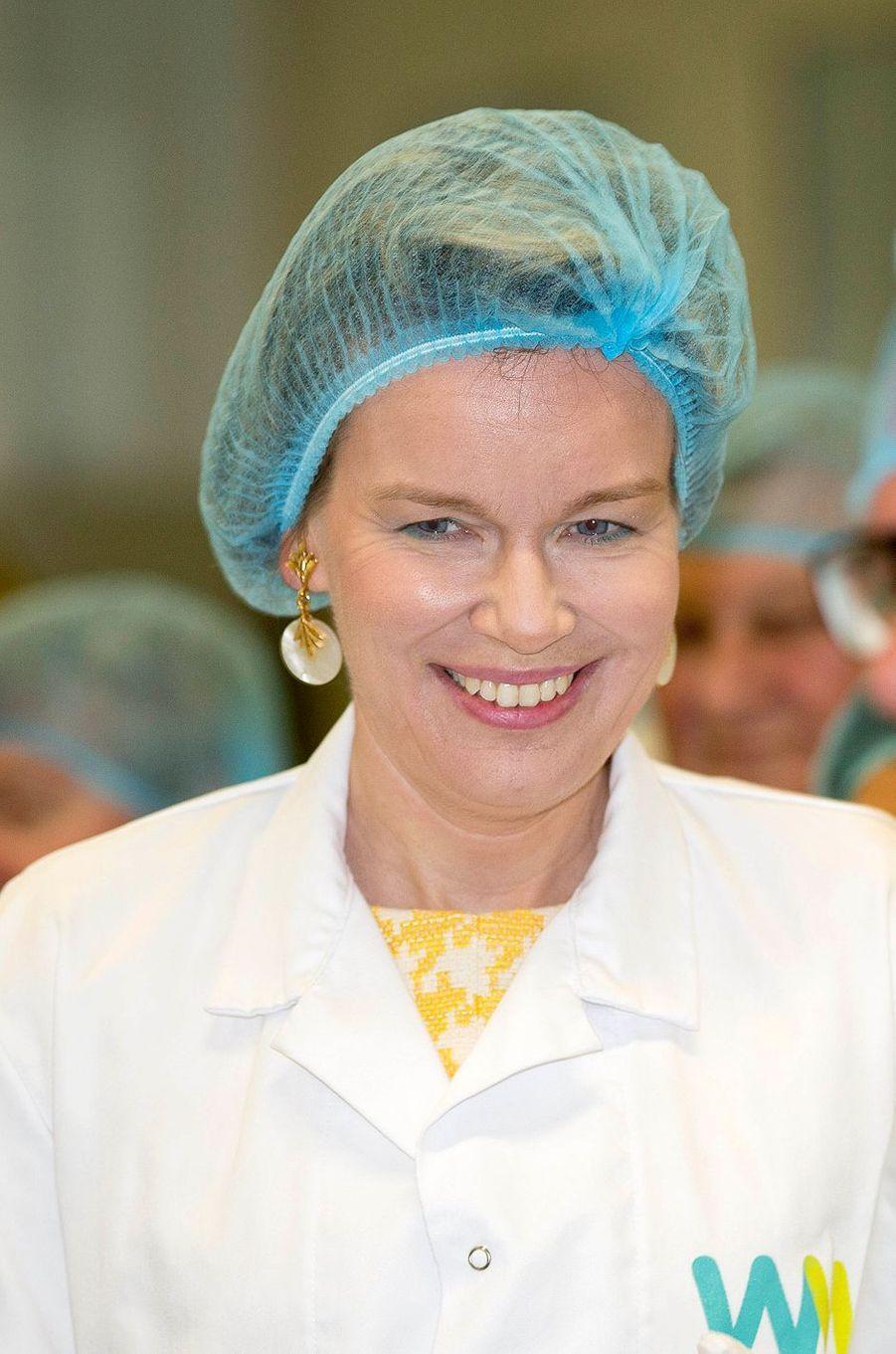 La reine Mathilde de Belgique à Temse, le 25 avril 2017