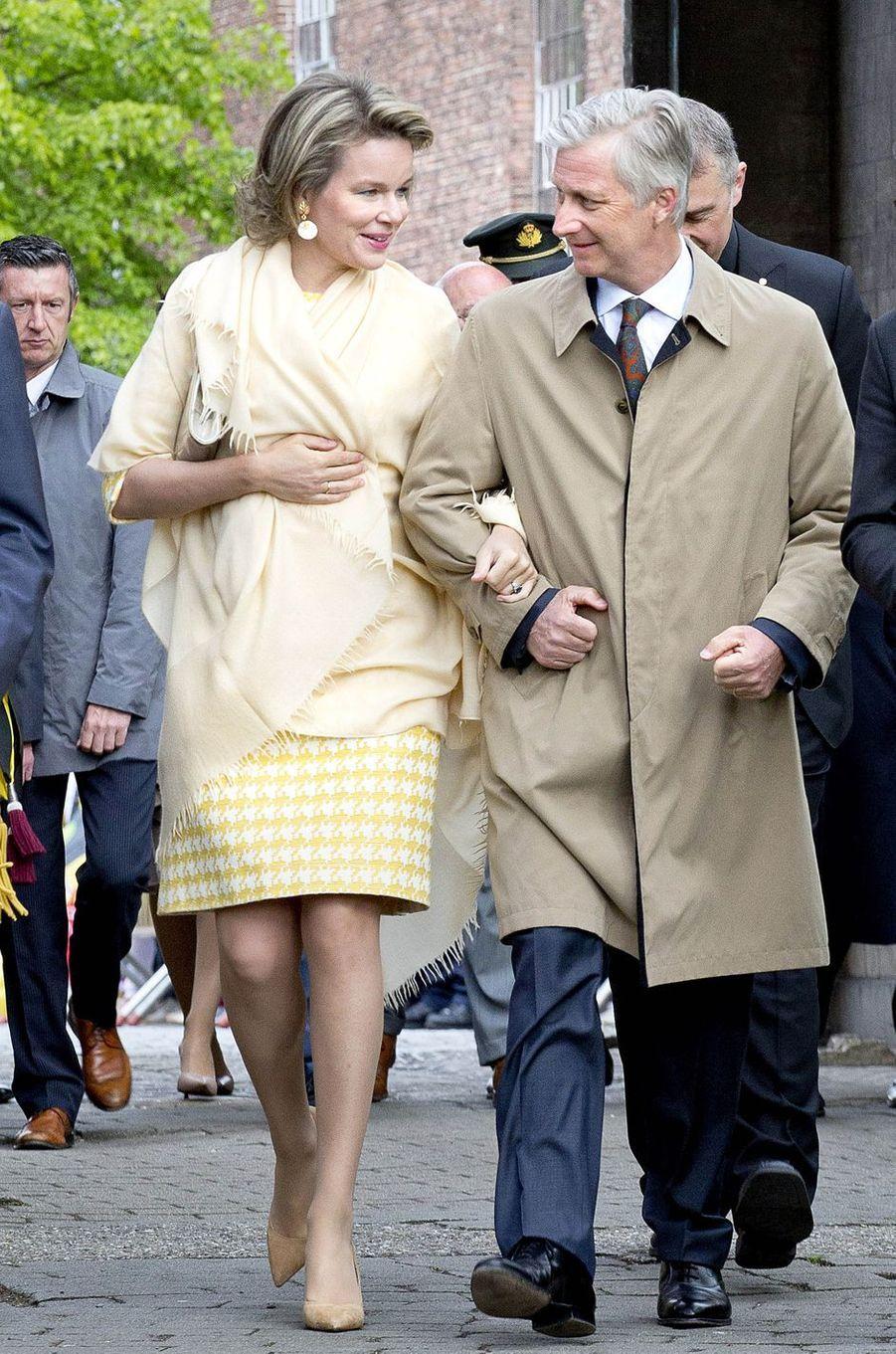 La reine Mathilde et le roi Philippe de Belgique à Bazel, le 25 avril 2017
