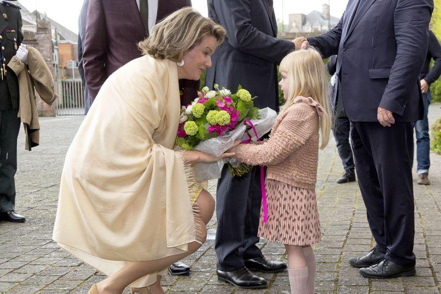 La reine Mathilde de Belgique à Dendermonde, le 25 avril 2017