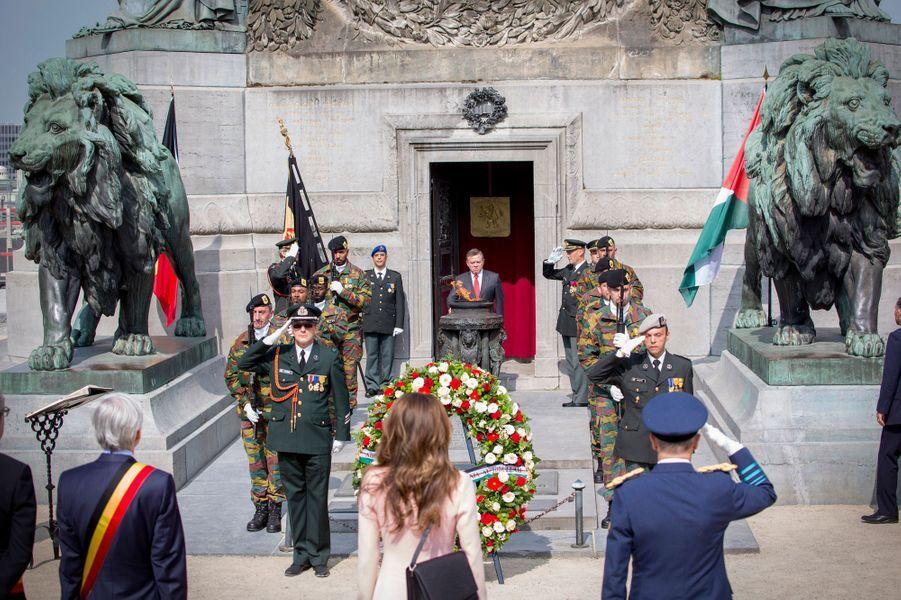 La reine Rania et le roi Abdallah II de Jordanie à Bruxelles, le 18 mai 2016