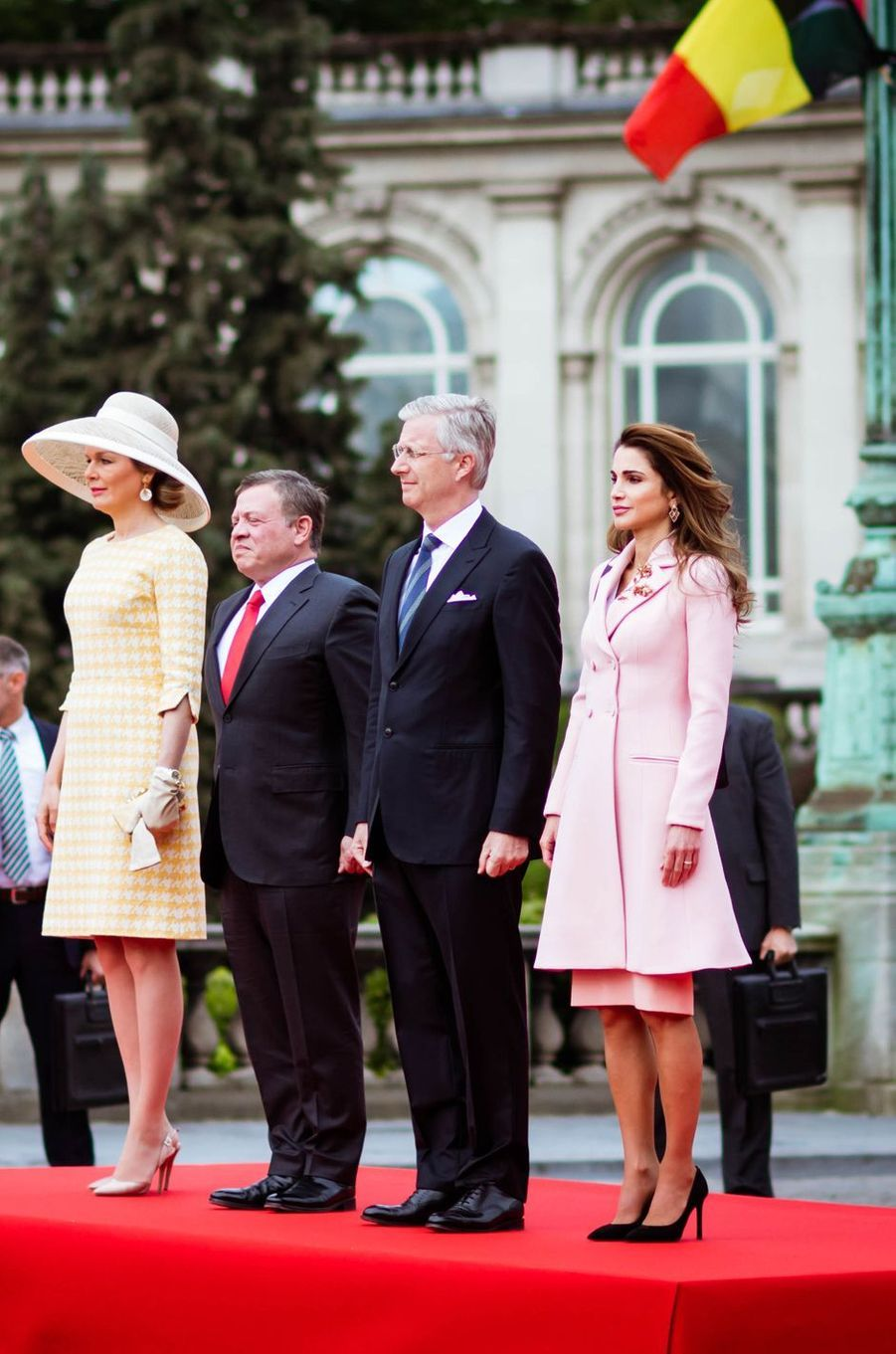 Les rois et reines de Belgique et de Jordanie à Bruxelles, le 18 mai 2016