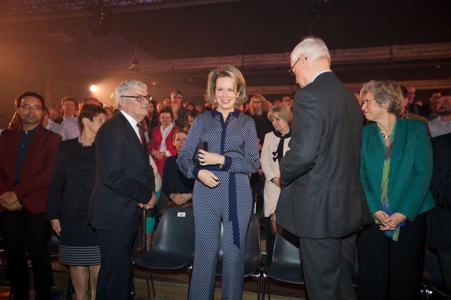 La reine Mathilde de Belgique à Aarschot, le 24 avril 2016
