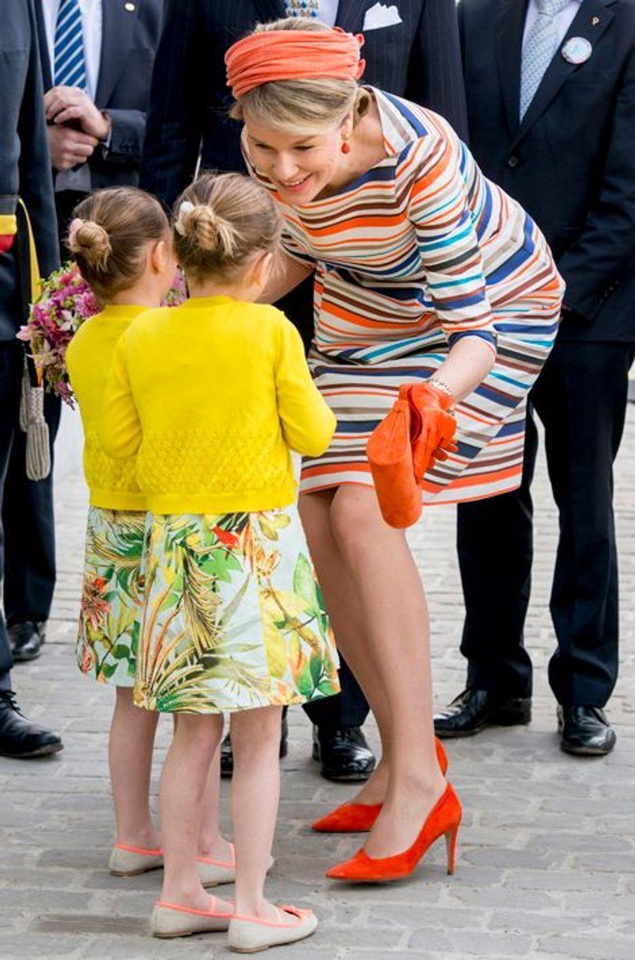 La reine Mathilde de Belgique à Gand, le 21 avril 2016