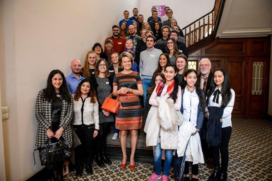 La reine Mathilde de Belgique à Liège, le 9 février 2017