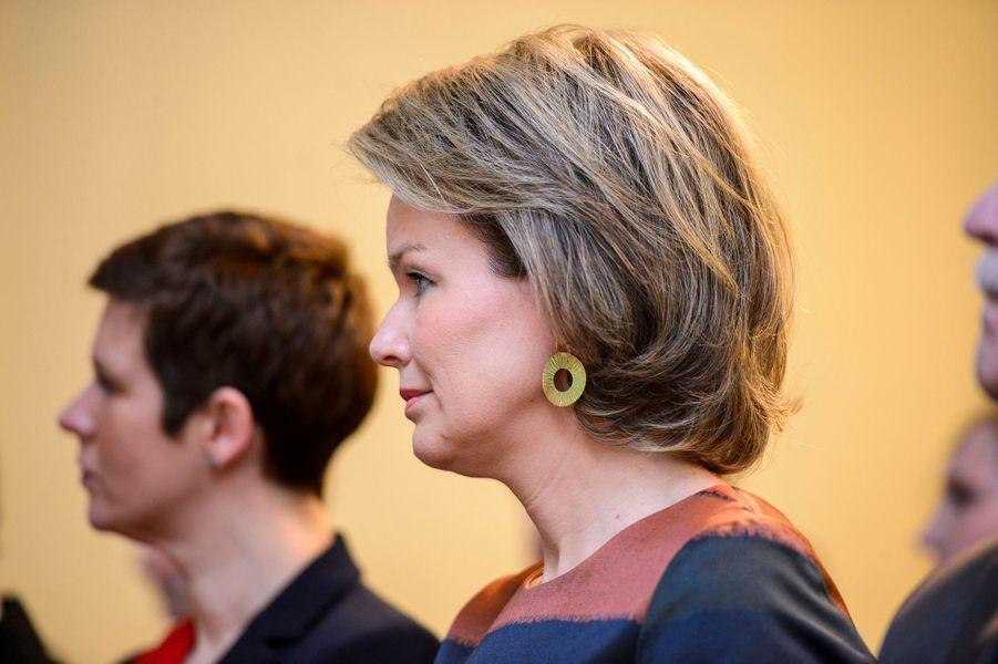 La reine des Belges Mathilde à Liège, le 9 février 2017