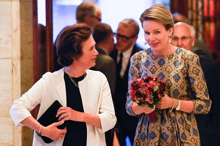 La reine Mathilde de Belgique au Bozar à Bruxelles, le 5 juin 2016