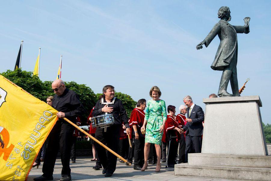 La reine Mathilde et le roi Philippe de Belgique à Sint-Amands, le 6 juin 2016