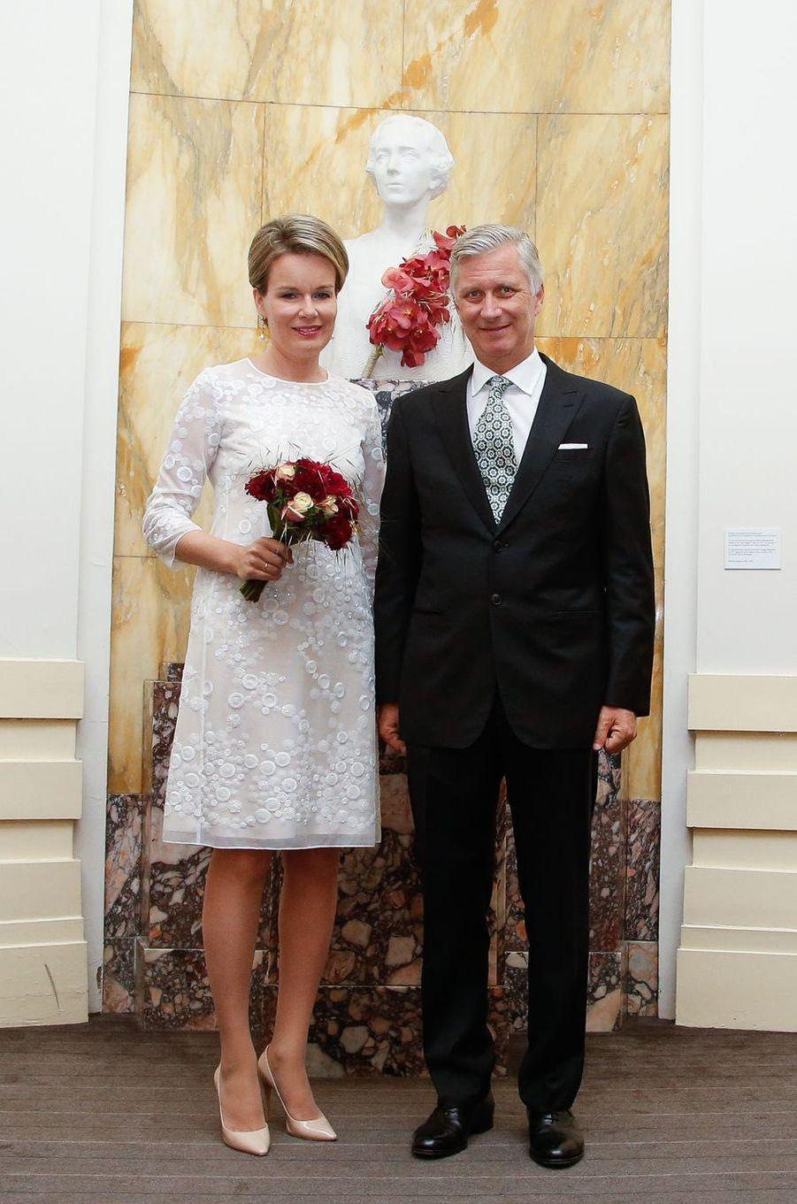 La reine Mathilde et le roi Philippe de Belgique à Bruxelles le 15 juin 2017