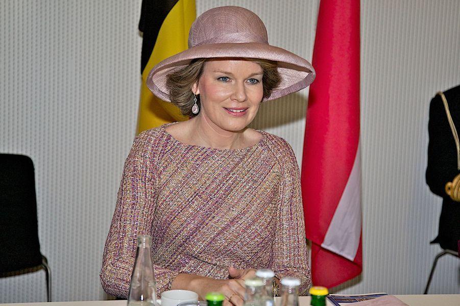 La reine Mathilde de Belgique à Copenhague, le 29 mars 2017