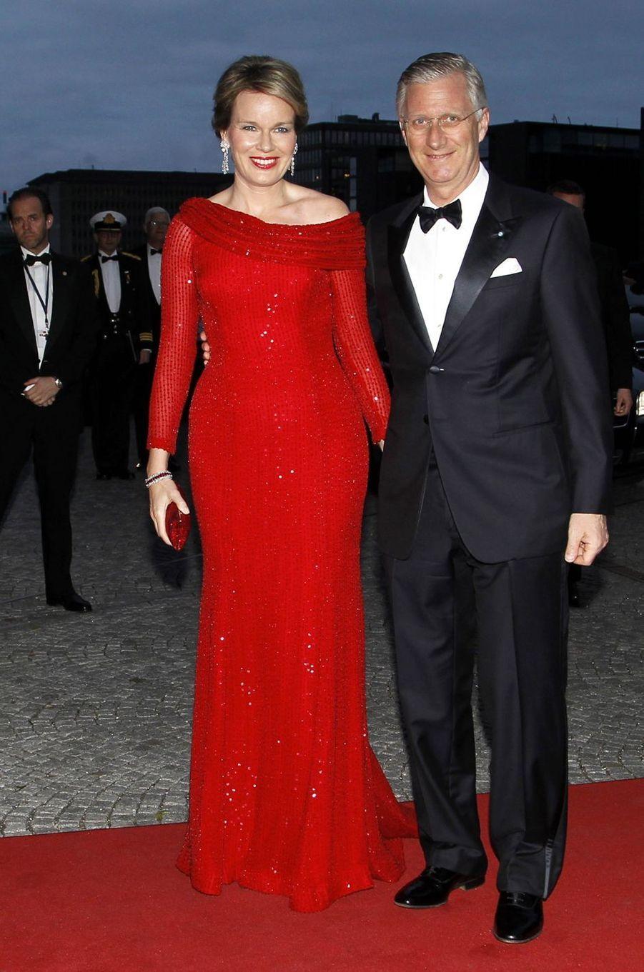 La reine Mathilde et le roi Philippe de Belgique à Copenhague, le 29 mars 2017