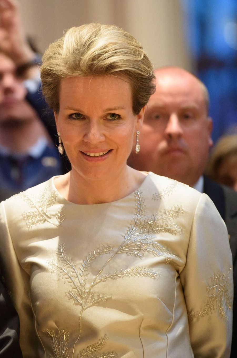 La reine Mathilde de Belgique à New York, le 23 avril 2018