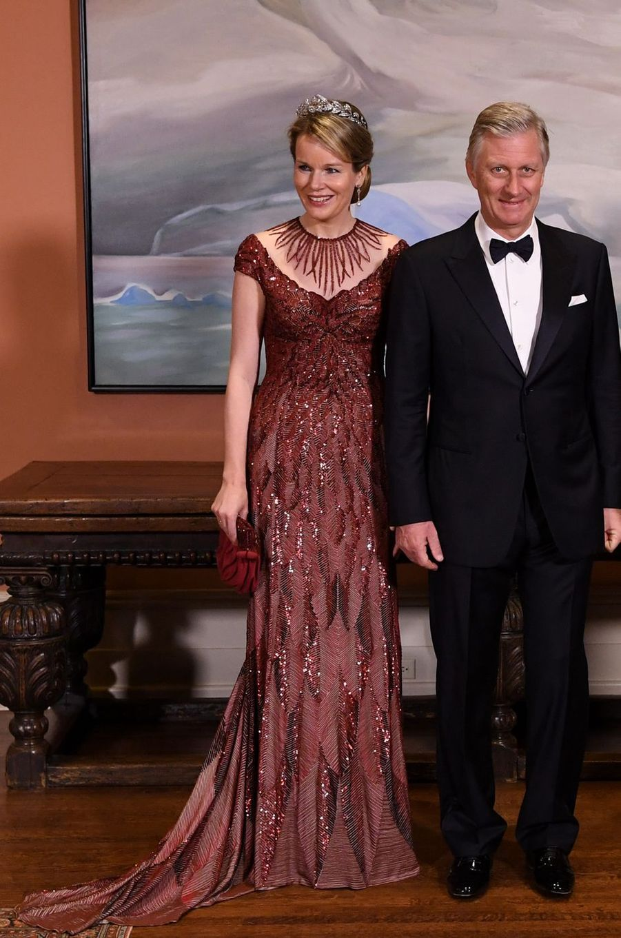 La reine des Belges Mathilde en Jan Taminiau à Ottawa, le 12 mars 2018