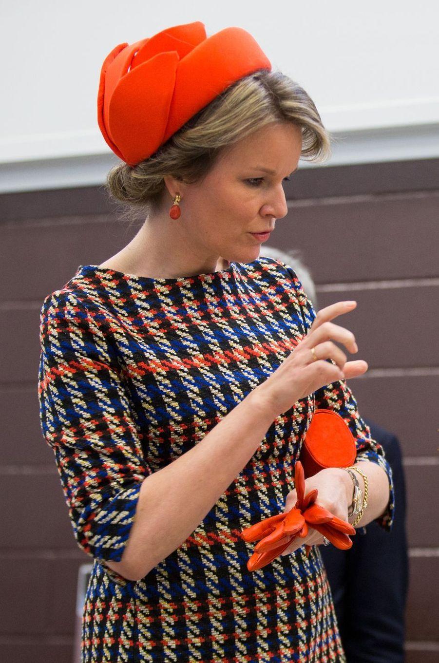 La reine des Belges Mathilde à Montréal, le 15 mars 2018