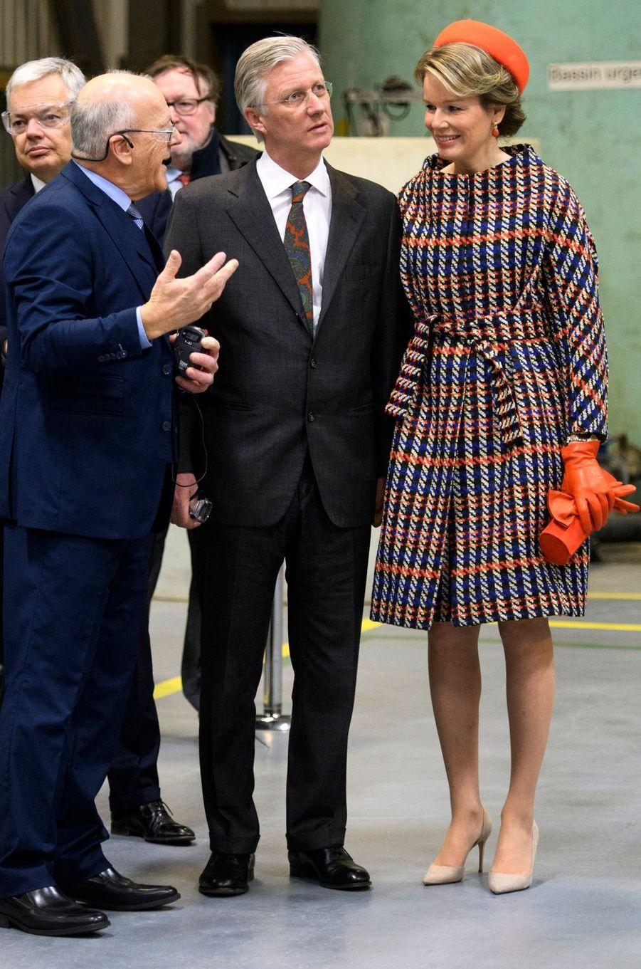 La reine des Belges Mathilde en Natan à Montréal, le 15 mars 2018