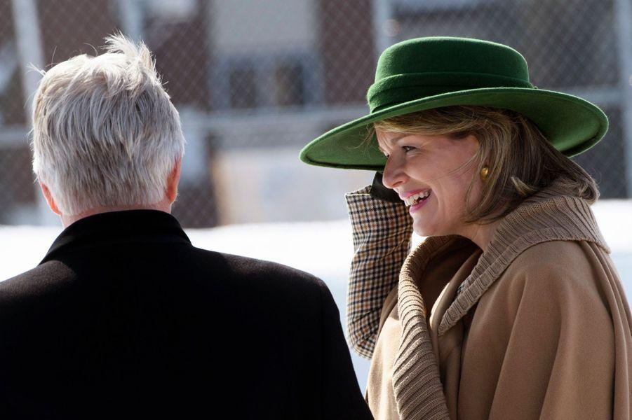 La reine des Belges Mathilde à Montréal, le 16 mars 2018