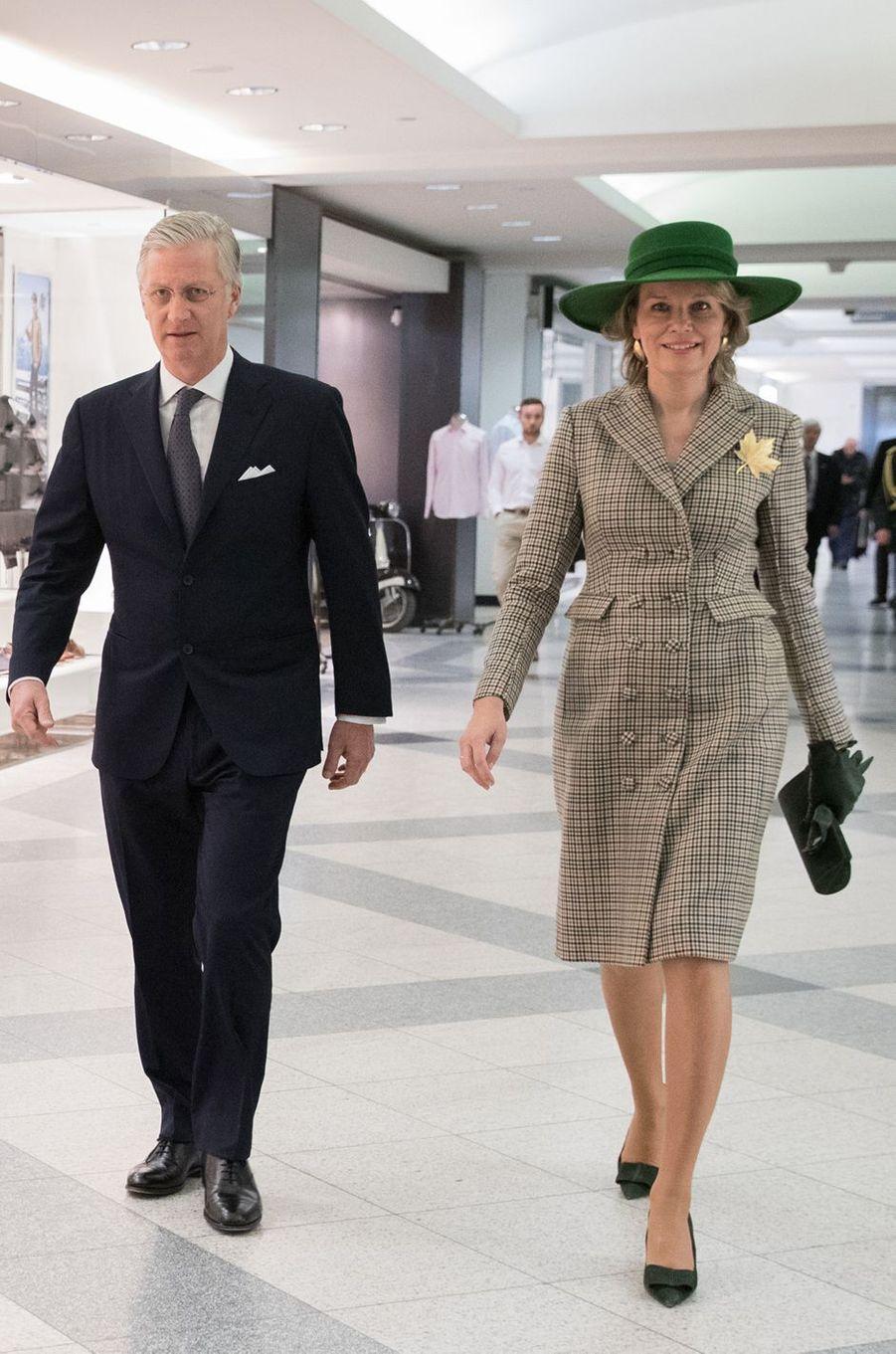 La reine des Belges Mathilde en Natan à Montréal, le 16 mars 2018