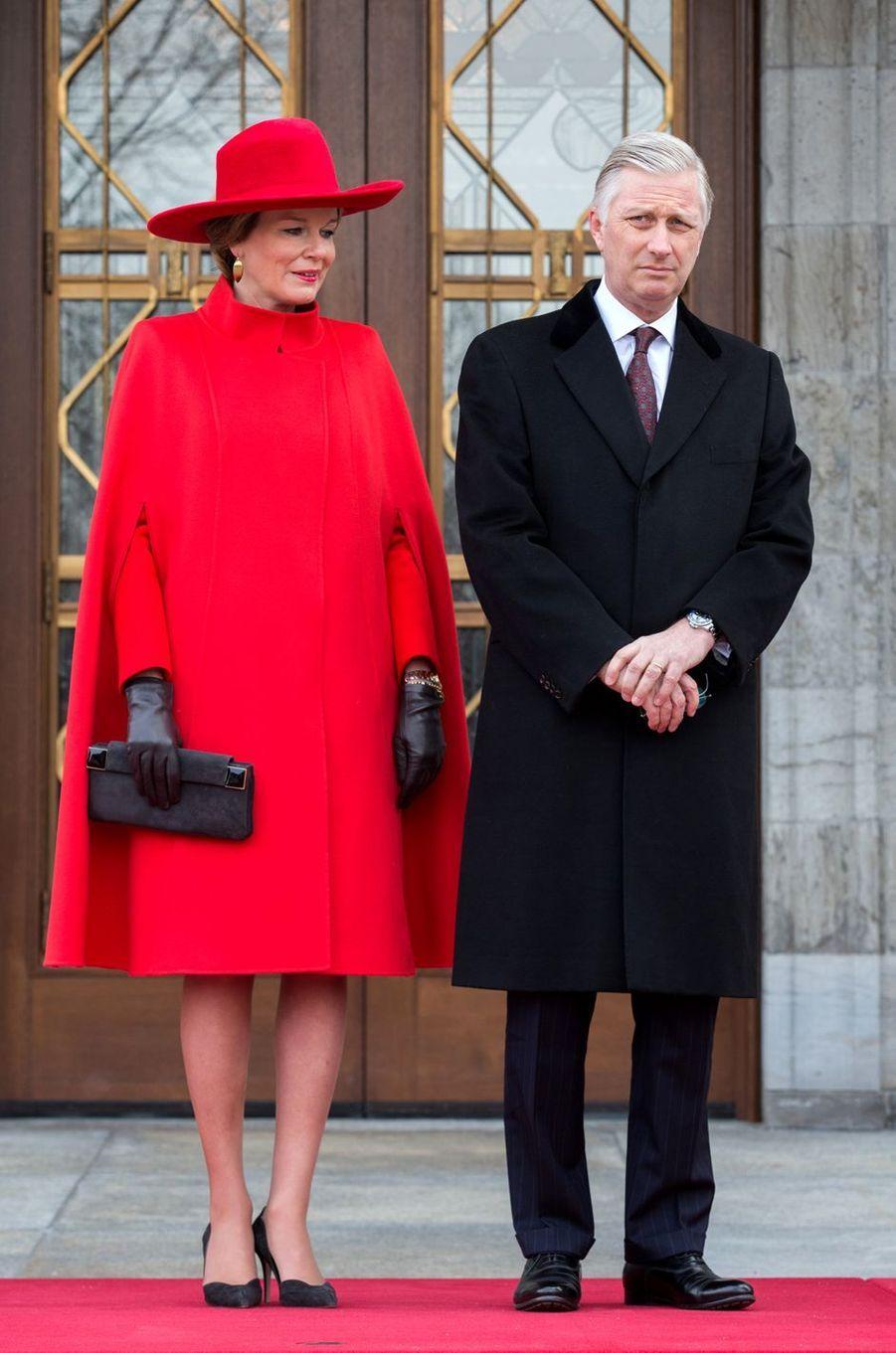 La reine des Belges Mathilde à Ottawa au premier jour de sa visite d'Etat au Canada, le 12 mars 2018