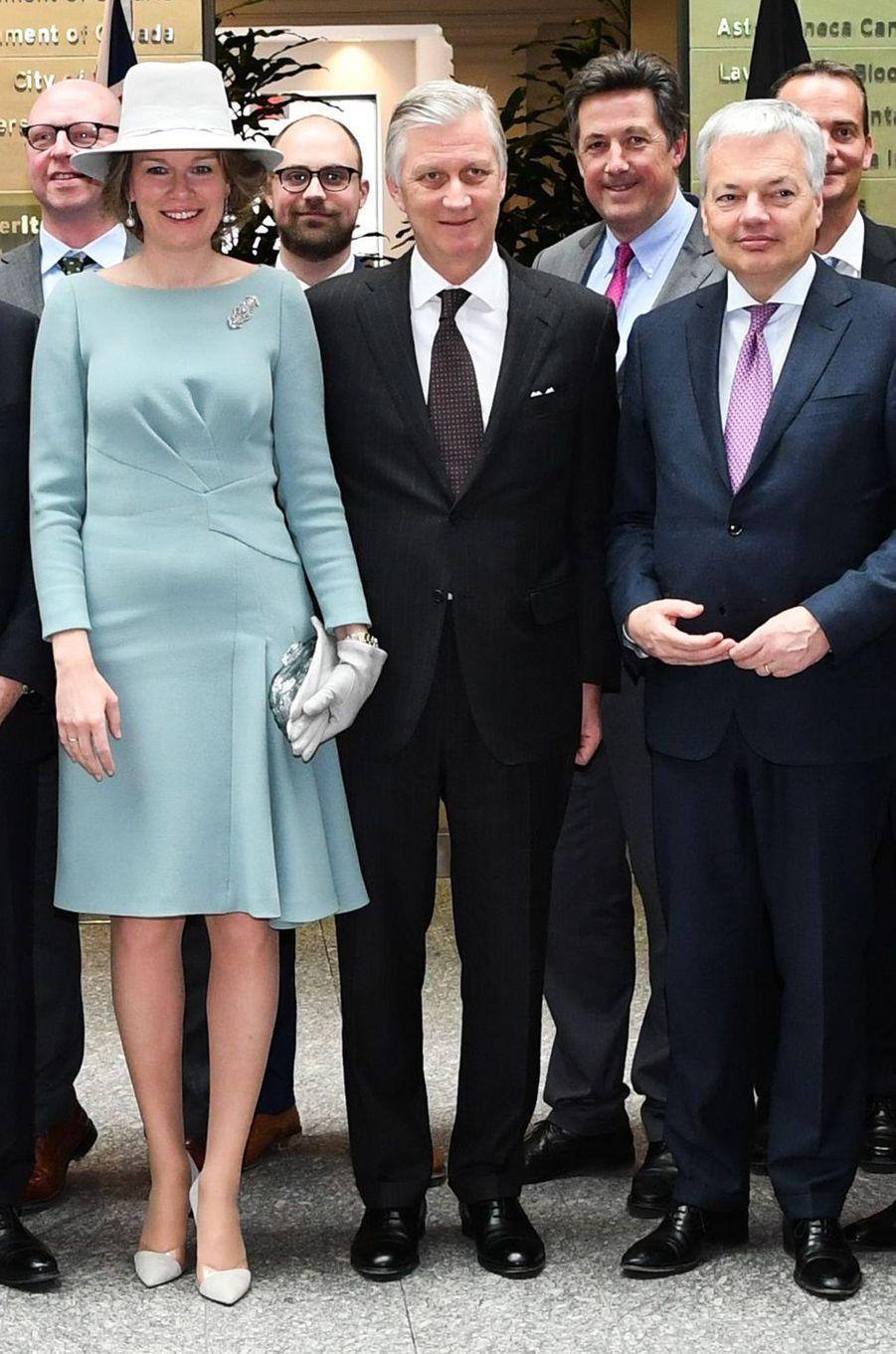 La reine des Belges Mathilde à Toronto, le 14 mars 2018