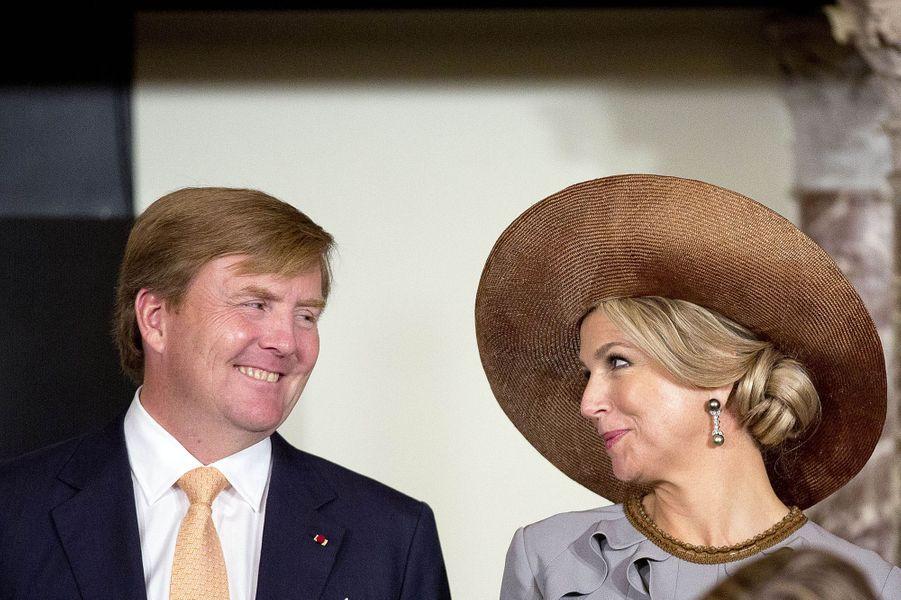 La reine Maxima et le roi Willem-Alexander des Pays-Bas à Amsterdam, le 28 novembre 2016