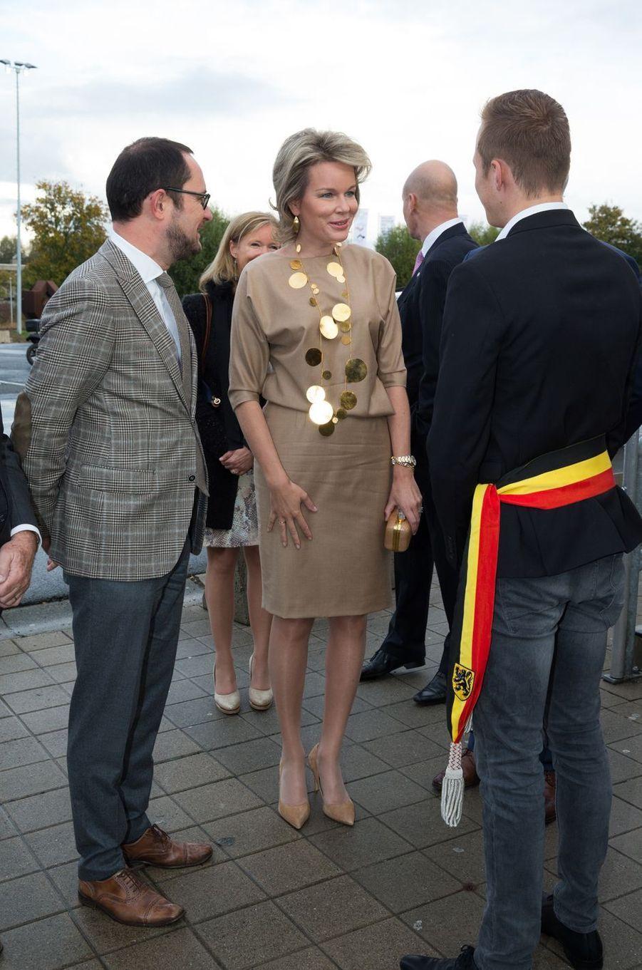 La reine Mathilde de Belgique à Courtrai, le 20 octobre 2016