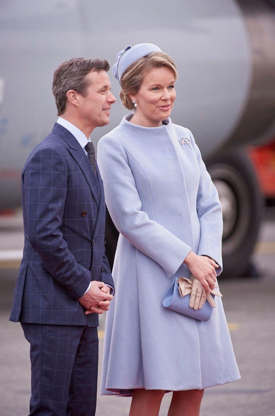 La reine Mathilde de Belgique et le prince Frederik de Danemark à Copenhague, le 28 mars 2017
