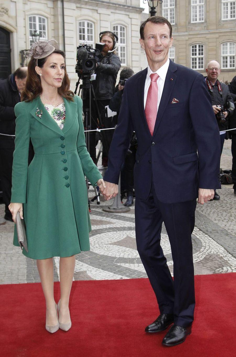 La princesse Marie et le prince Joachim de Danemark à Copenhague, le 28 mars 2017