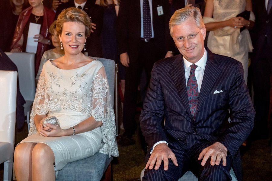 La reine Mathilde et le roi Philippe de Belgique à New Delhi, le 8 novembre 2017