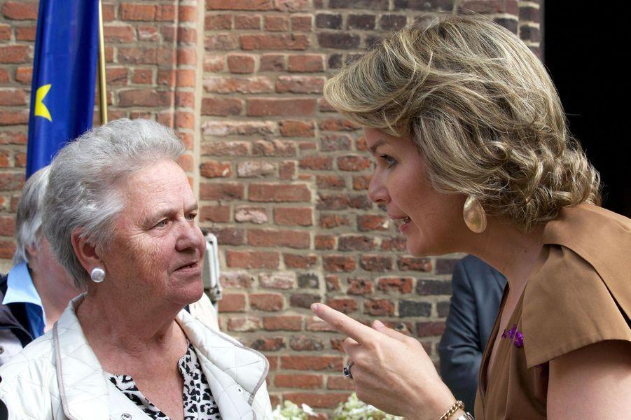 La reine Mathilde de Belgique à Gand, le 8 juillet 2016