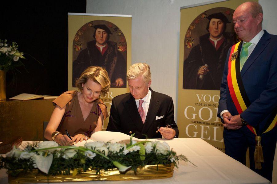 La reine Mathilde et le roi Philippe de Belgique à Gand, le 8 juillet 2016