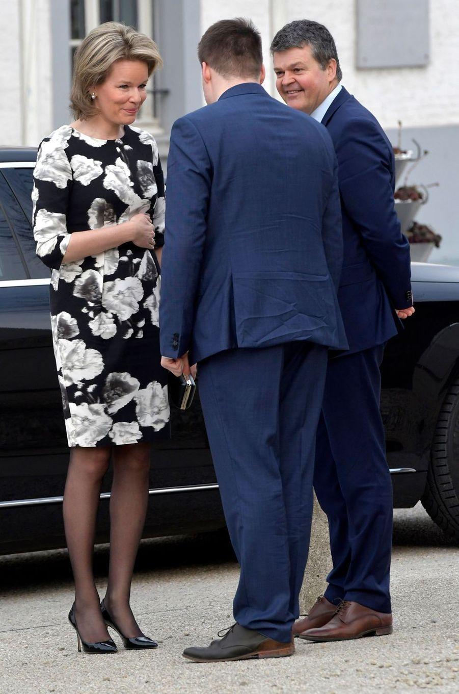 La reine Mathilde de Belgique à Malines, le 27 mars 2018