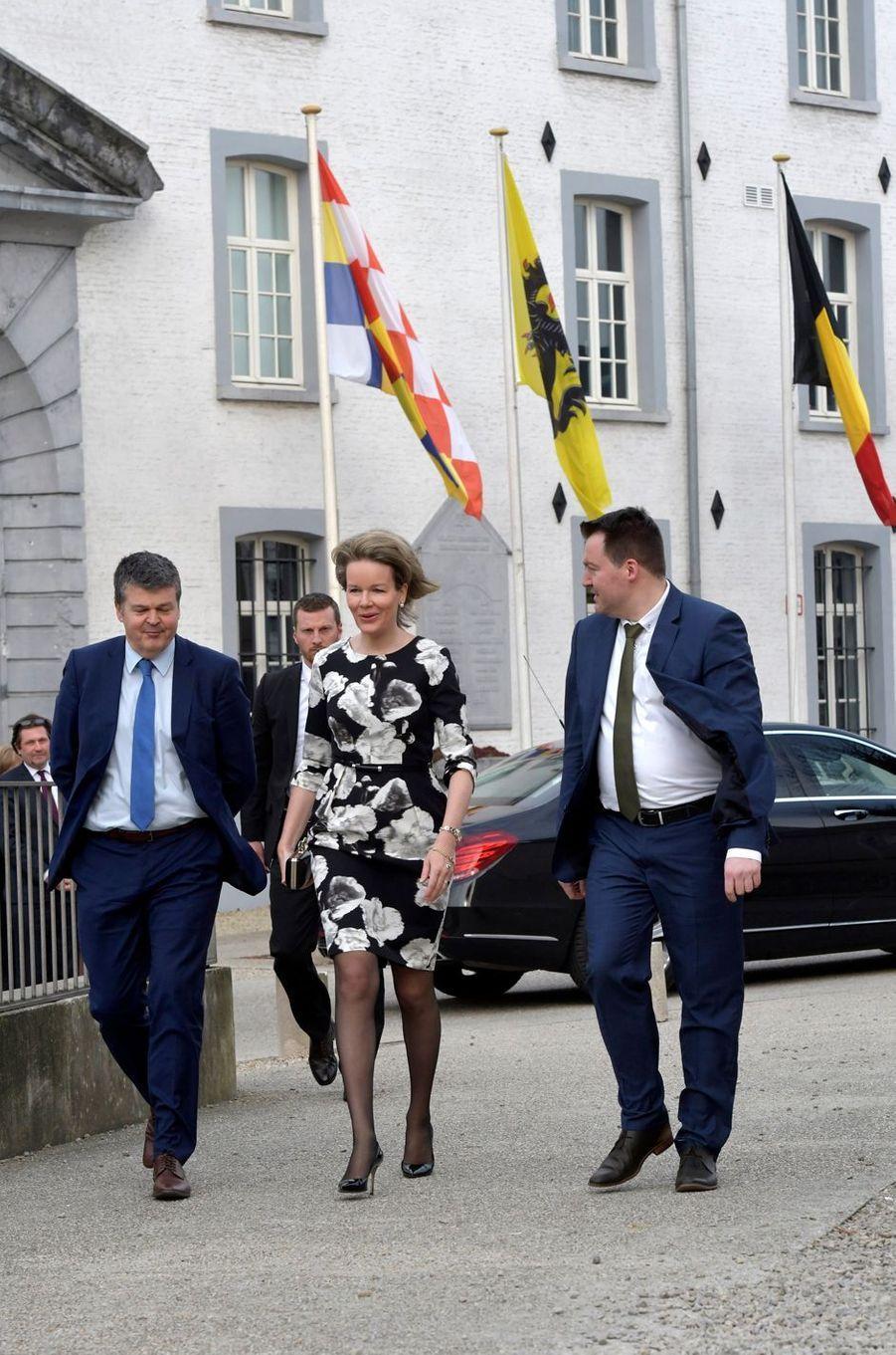 La reine Mathilde de Belgique, à Malines le 27 mars 2018