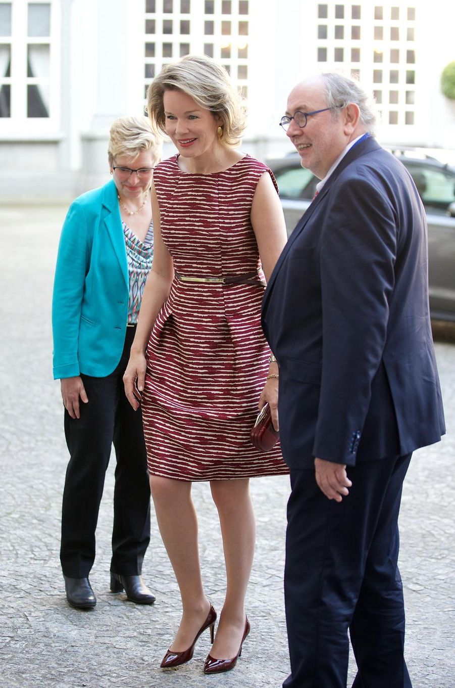 La reine Mathilde à Bruxelles, le 9 juin 2016