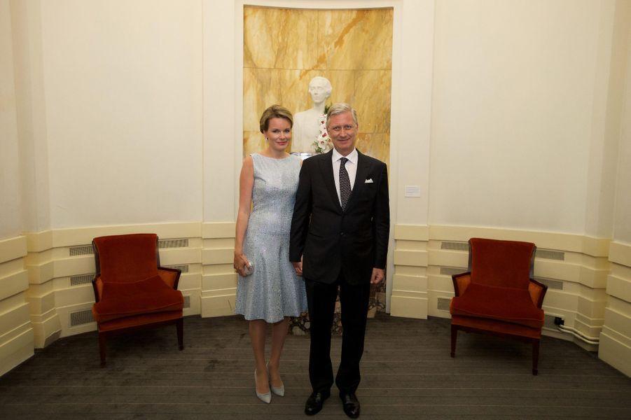 La reine Mathilde et le roi Philippe de Belgique à Bruxelles, le 9 juin 2016