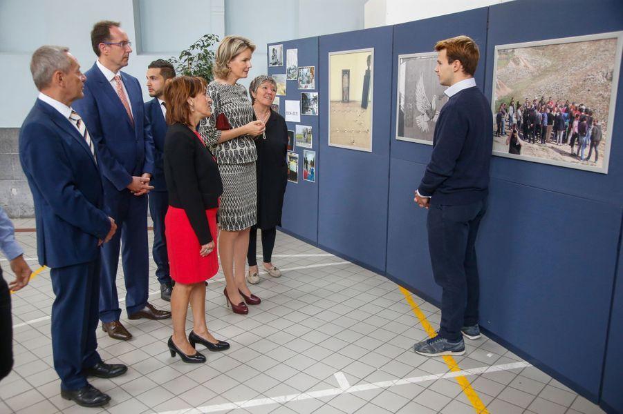 La reine Mathilde de Belgique à Bruxelles le 21 septembre 2016