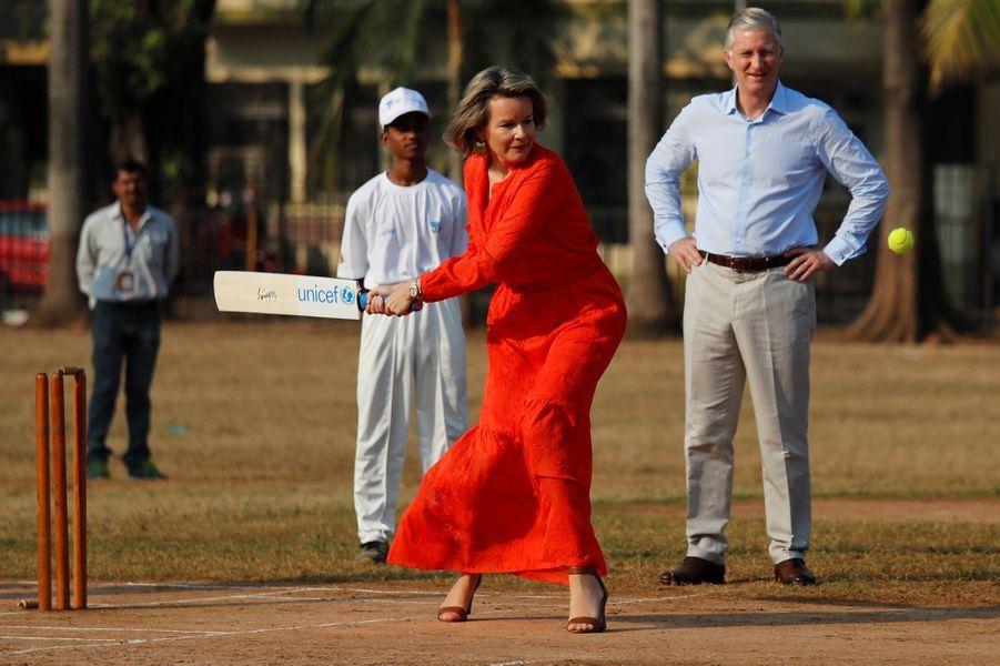 La reine Mathilde et le roi Philippe de Belgique à Mumbai (Bombay), le 10 novembre 2017