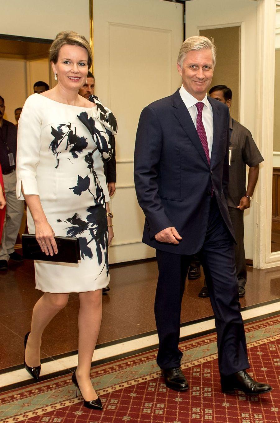La reine Mathilde et le roi Philippe de Belgique à Bombay, le 9 novembre 2017