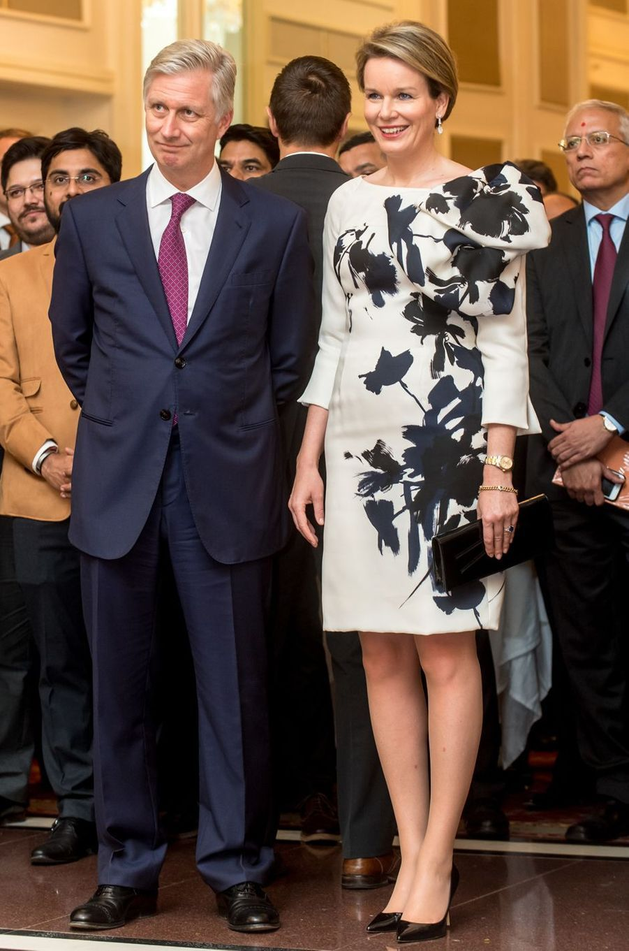 La reine des Belges Mathilde en Inde, le 9 novembre 2017
