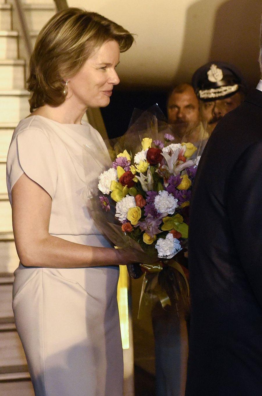 La reine des Belges Mathilde en Inde, le 5 novembre 2017