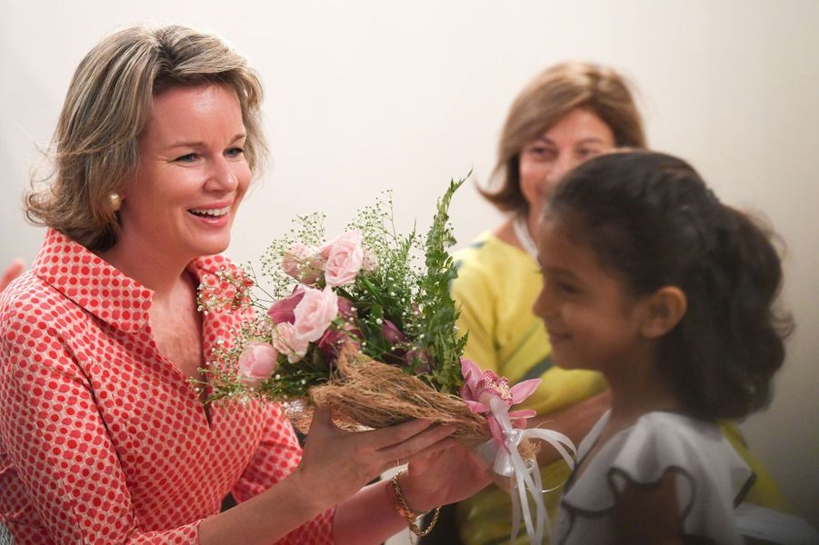 La reine des Belges Mathilde en Inde, le 10 novembre 2017
