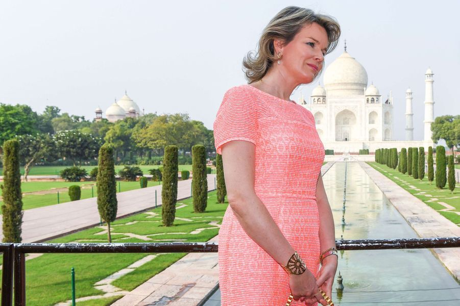 La reine des Belges Mathilde en Inde, le 6 novembre 2017