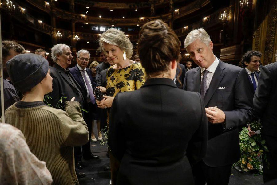 La reine Mathilde et le roi des Belges Philippe à Bruxelles, le 6 septembre 2017