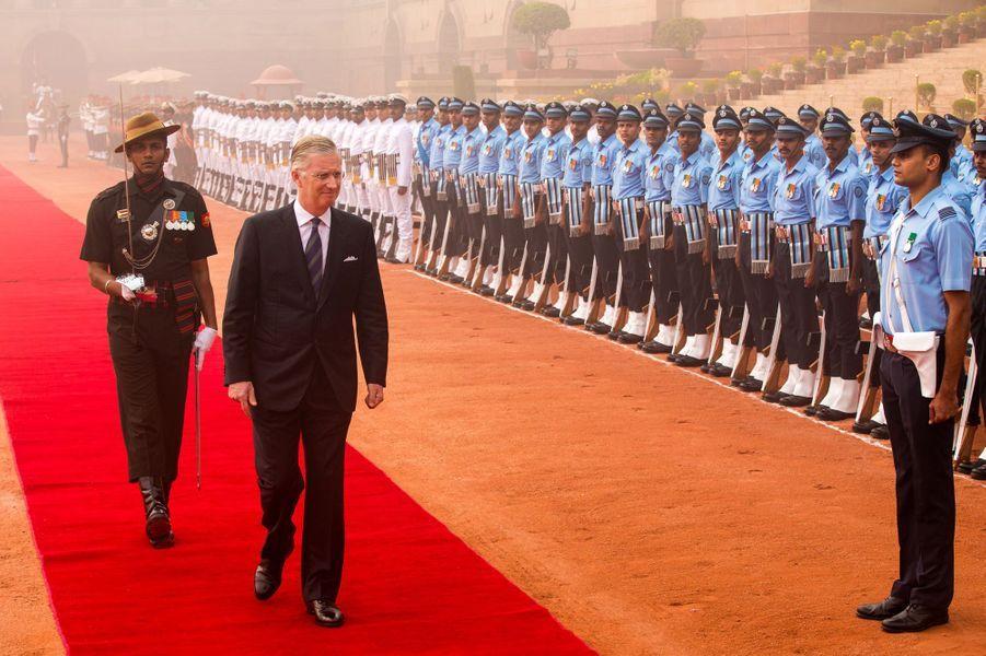 Le roi Philippe de Belgique à New Delhi, le 7 novembre 2017