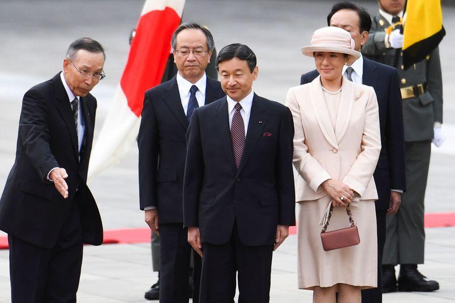 Le prince héritier Naruhito du Japon et son épouse la princesse Masako à Tokyo, le 11 octobre 2016